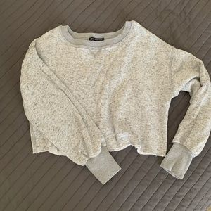 Gray brandy Melville cropped sweatshirt